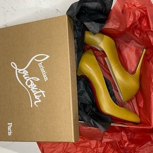 New Christian Louboutin FiFi 80 Light olive Pumps